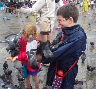 Que mangent des enfants à Venise ? Du pigeon ?