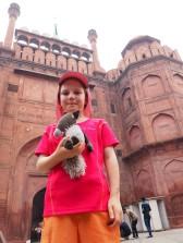 Sacado et Jeanne devant le Fort rouge - Delhi