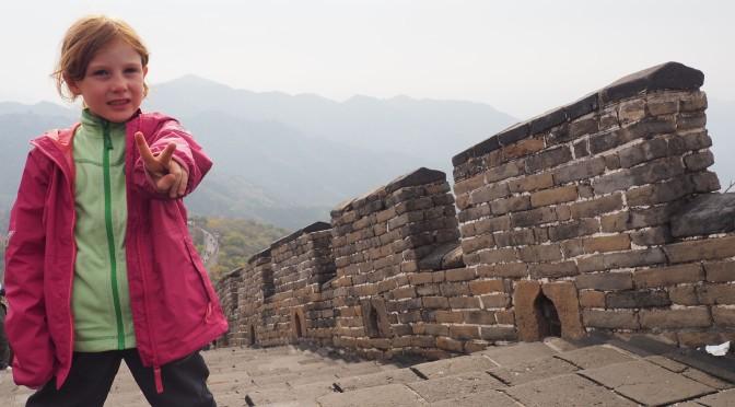 Jeanne sur la grande muraille de Chine