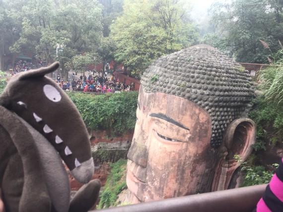 Sacado et le Bouddha géant - Leshan
