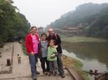 Leshan - pont dans le parc du bouddha géant
