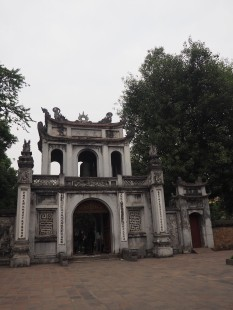 Hanoï - Porte temple de confusius / Temple de la littérature