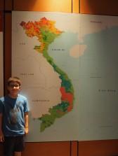 Hanoï - Musée d'ethnologie, répartition des ethnies