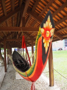 Hanoï - Musée d'ethnologie, la pirogue