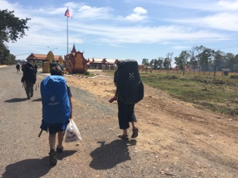 La zone entre les 2 postes frontières Laos - Cambodge